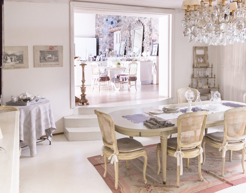 Comedor shabby chic rom ntico y campestre westwing - Comedor shabby chic ...