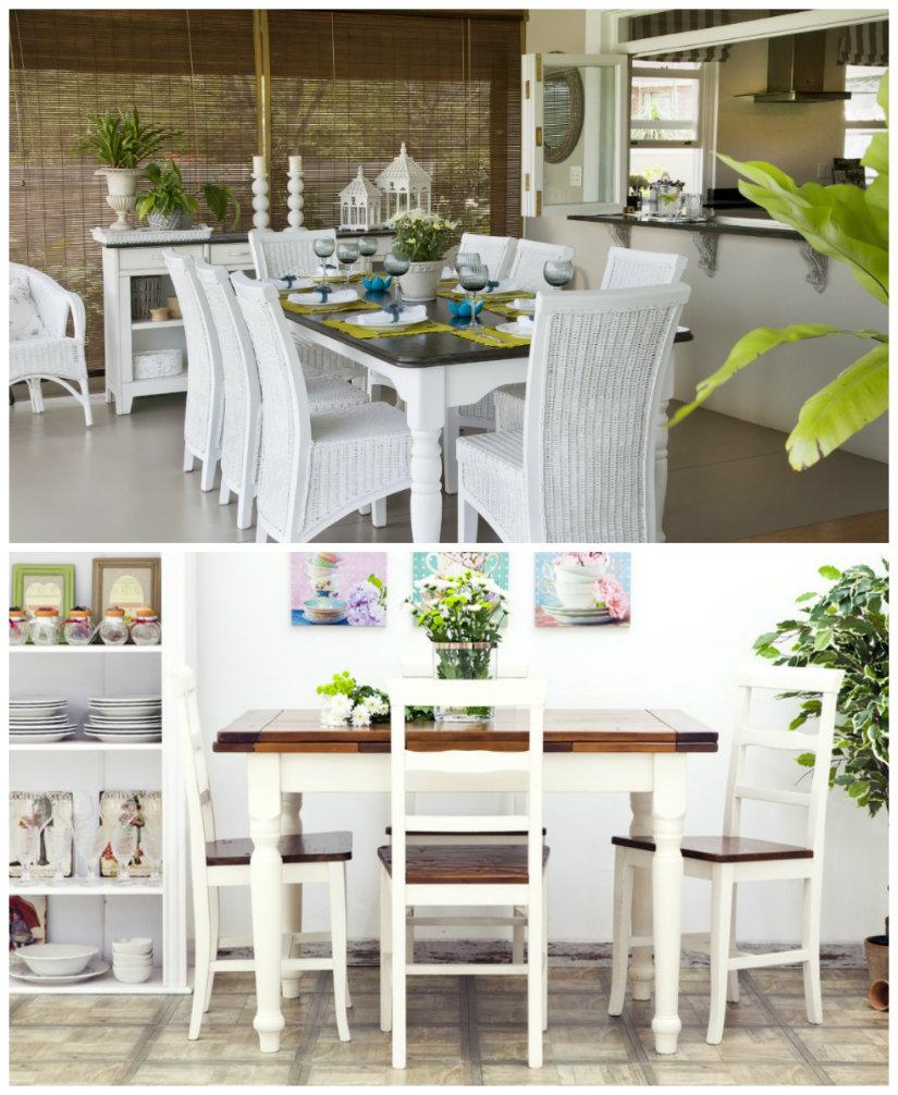 comedor blanco estilo mediterráneo