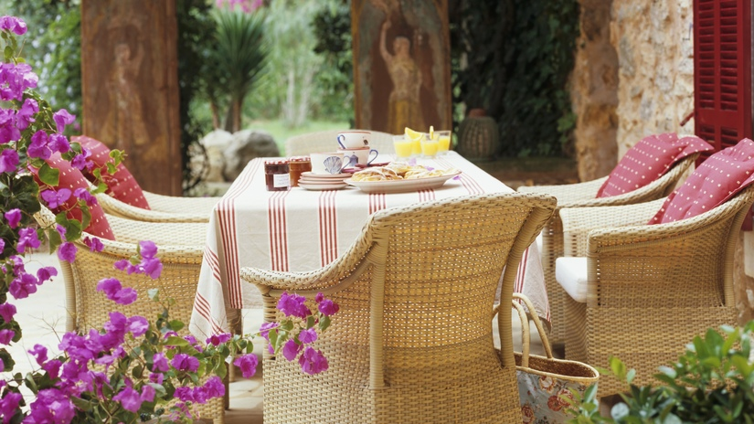 comedor en jardín