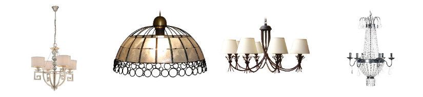 comedores clásicos lámparas de techo