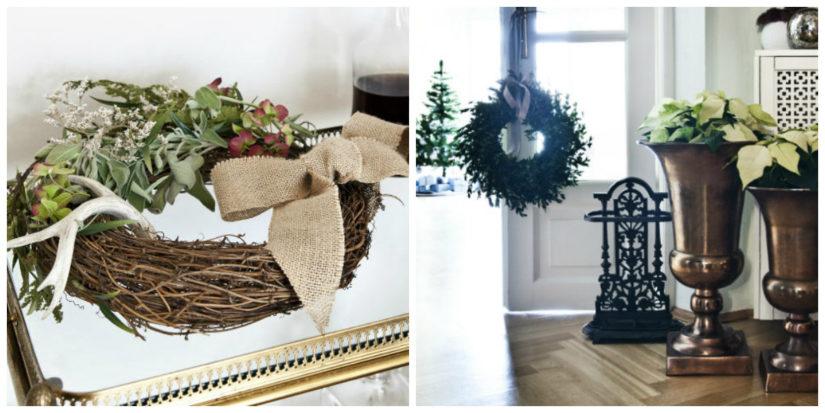 Adornos navideños DIY para las puertas