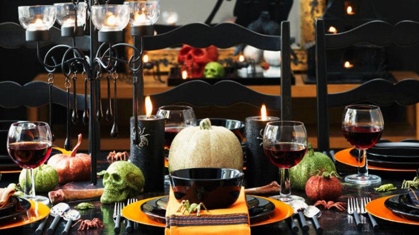 decoración de halloween para la mesa