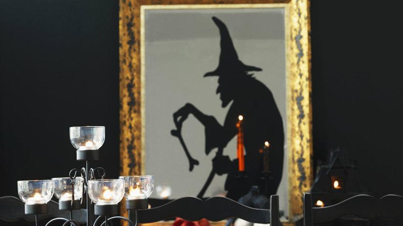 decoración de halloween para ventanas