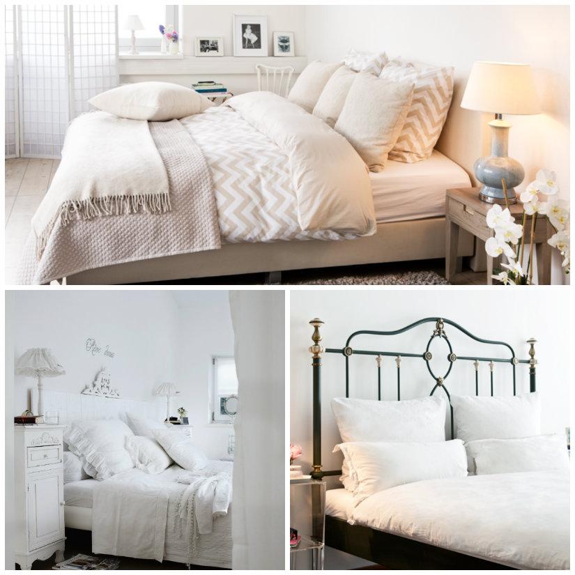 dormitorio de colores blanco