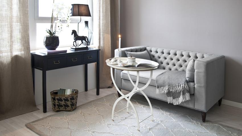 alfombras finas grises