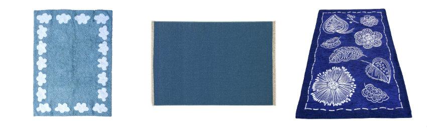 dormitorio azul alfombras