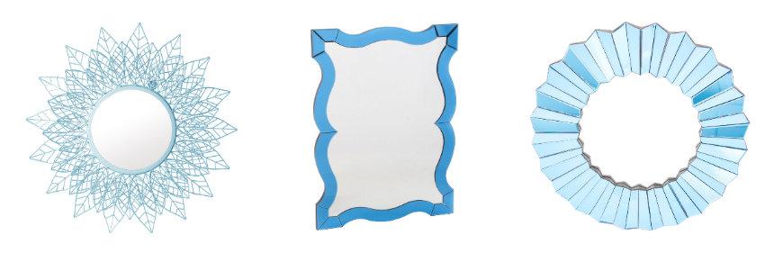 dormitorio azul espejos