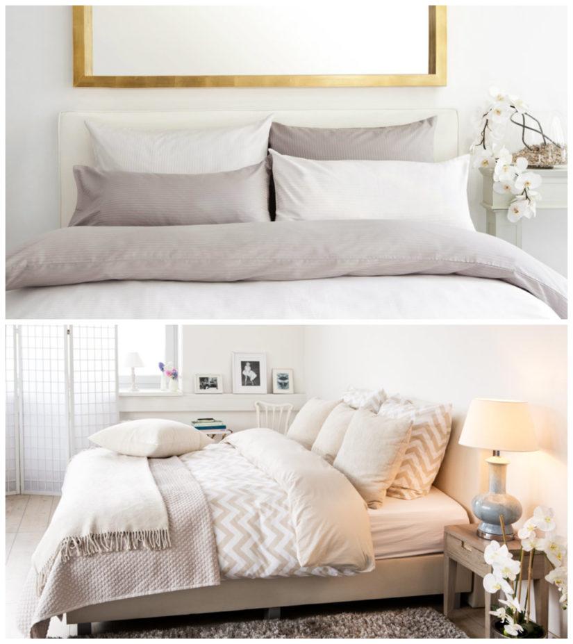 dormitorio blanco texturas