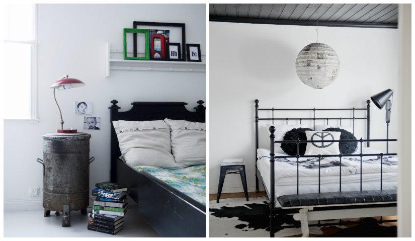 dormitorio blanco y negro original