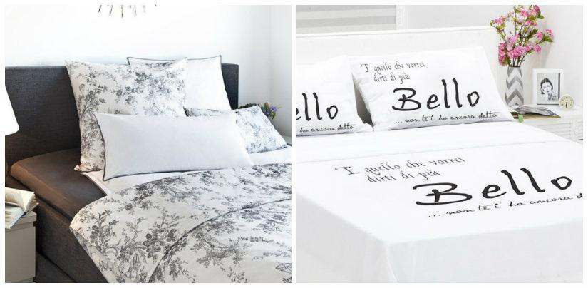 dormitorio blanco y negro sábanas