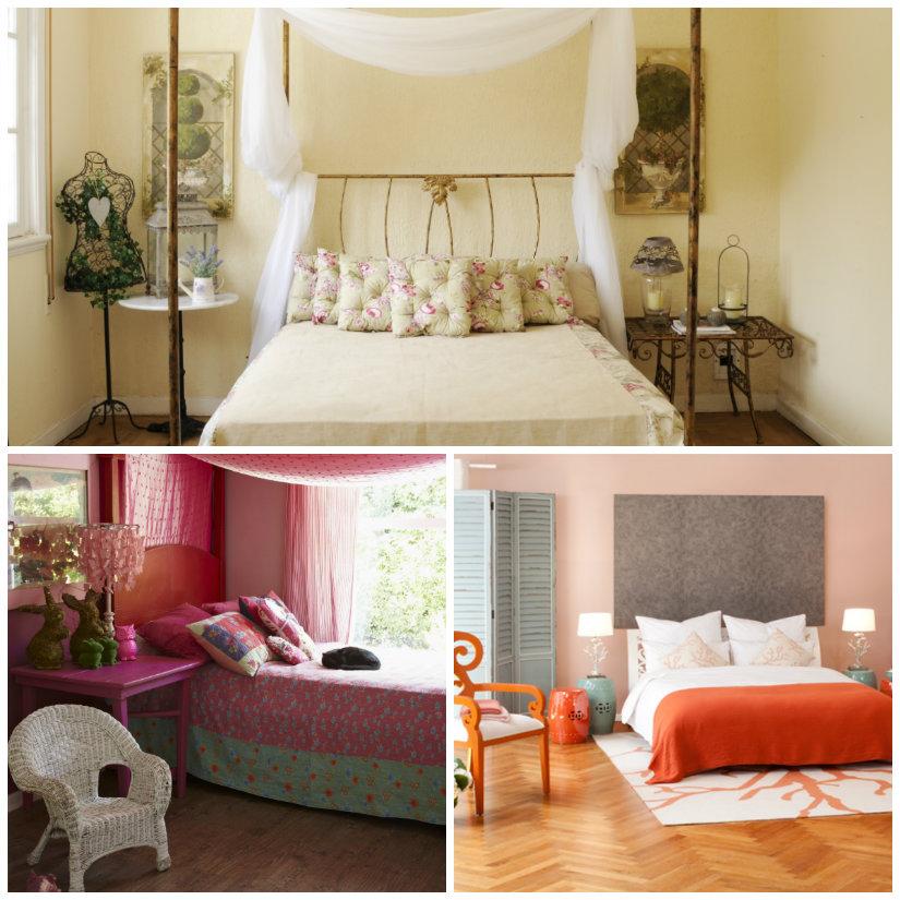 dormitorio de colores cálidos