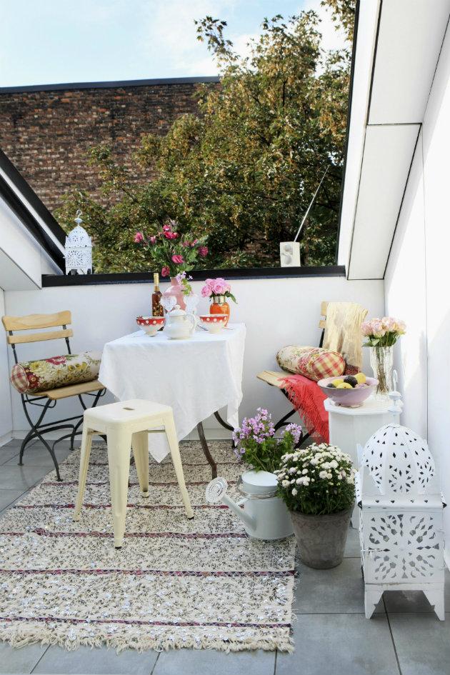 jardín y exteriores balcón ciudad