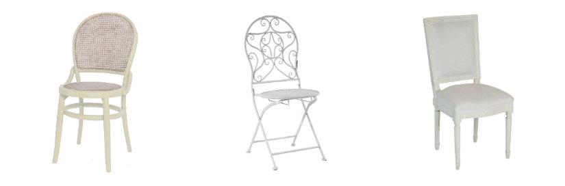 sillas de estilo romántico