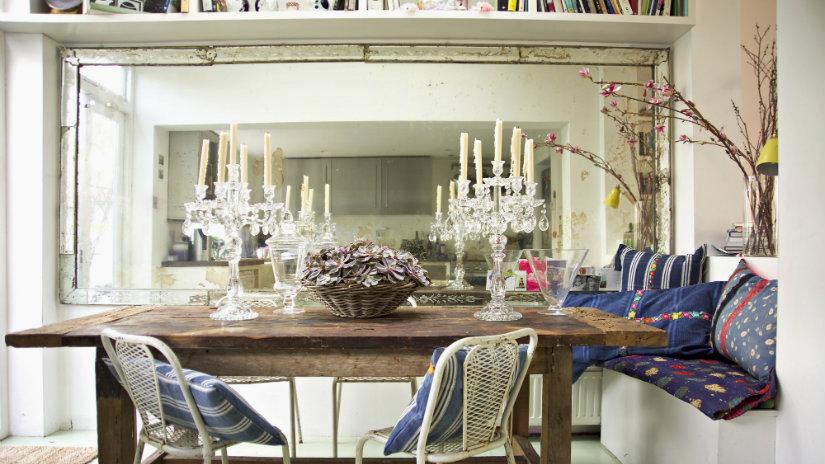 decoración de comedores con espejo