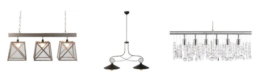 decoración de comedores lámparas