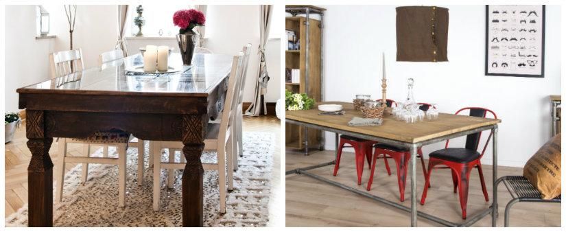 decoración de comedores mesas rústicas
