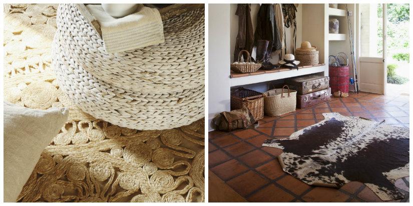 recibidores rústicos alfombras