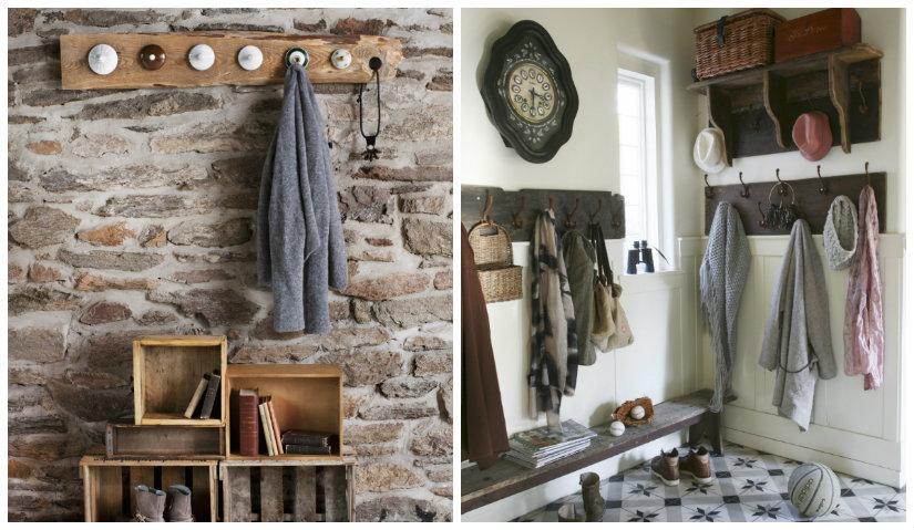 Además de muebles nuevos de madera, los muebles restaurados a mano o