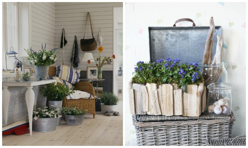 recibidores rústicos plantas