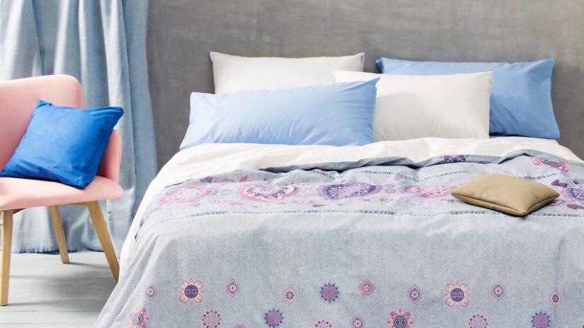 dormitorio en gris color