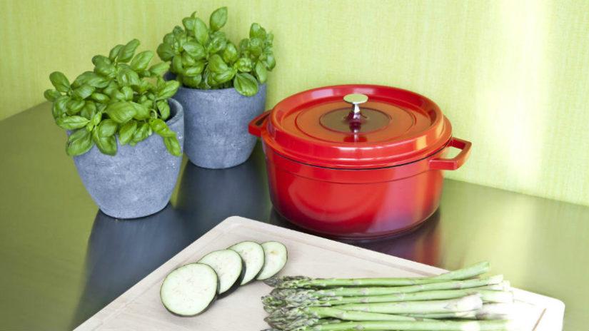 decoración con plantas de interior en la cocina