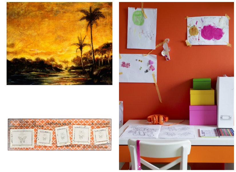 dormitorio naranja paredes