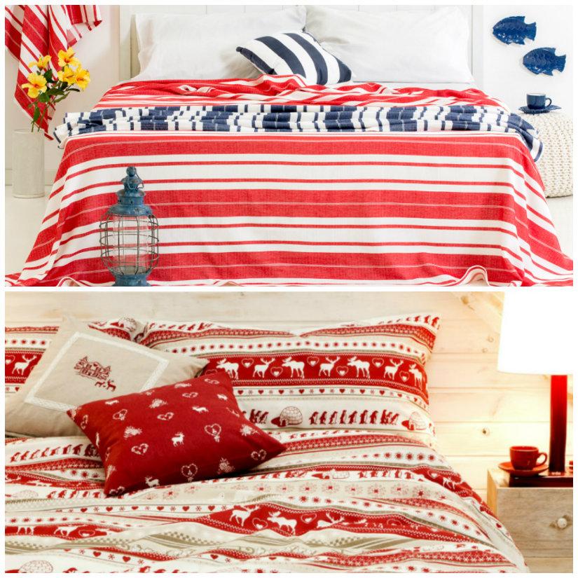 dormitorio rojo sábanas
