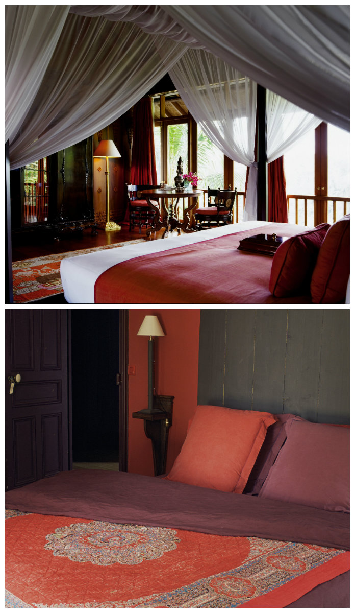 dormitorio rojo tonalidades