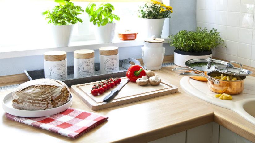 huerto ecológico en casa cocina
