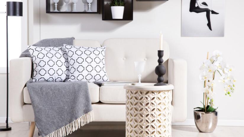 manta de lana para el sofá