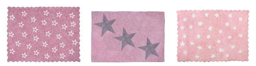 alfombras rosas con estrellas