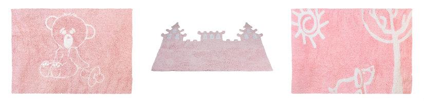 alfombras rosas infantiles