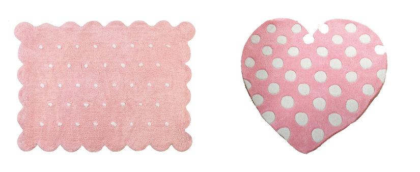 alfombras rosas con puntitos