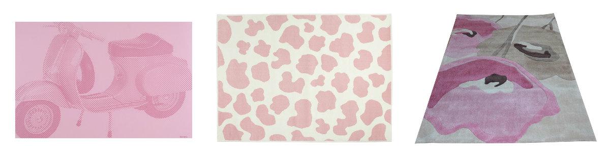 alfombras rosas texturas