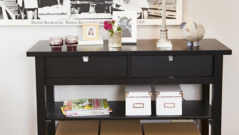 Armario Cama Plegable Ikea ~ Aparador negro elegancia y estilo para tu salón WESTWING