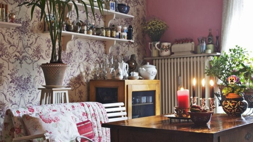 Papel pintado r stico lleva el campo a tu casa westwing - Como decorar con papel pintado ...