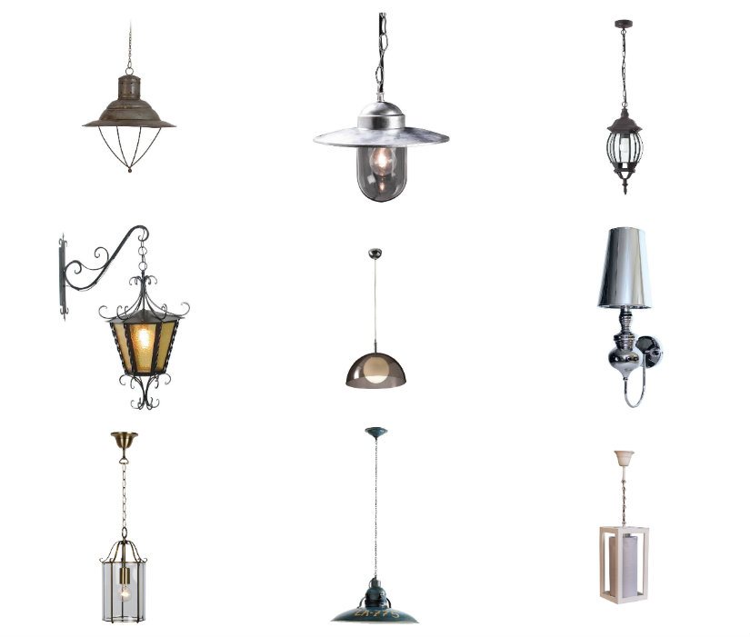 recibidores antiguos lámparas