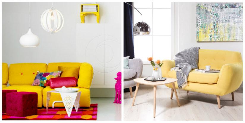 salón amarillo sofá