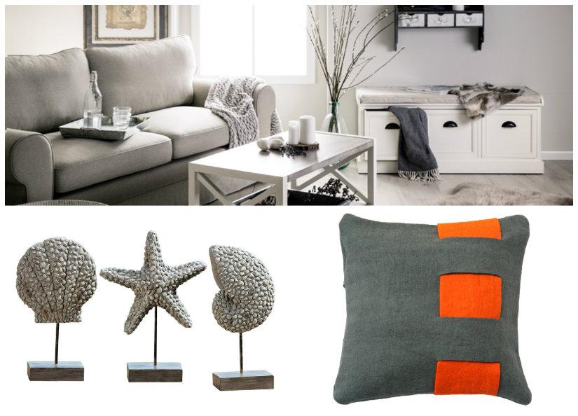 salón gris estilo