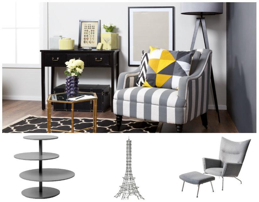 salón gris muebles