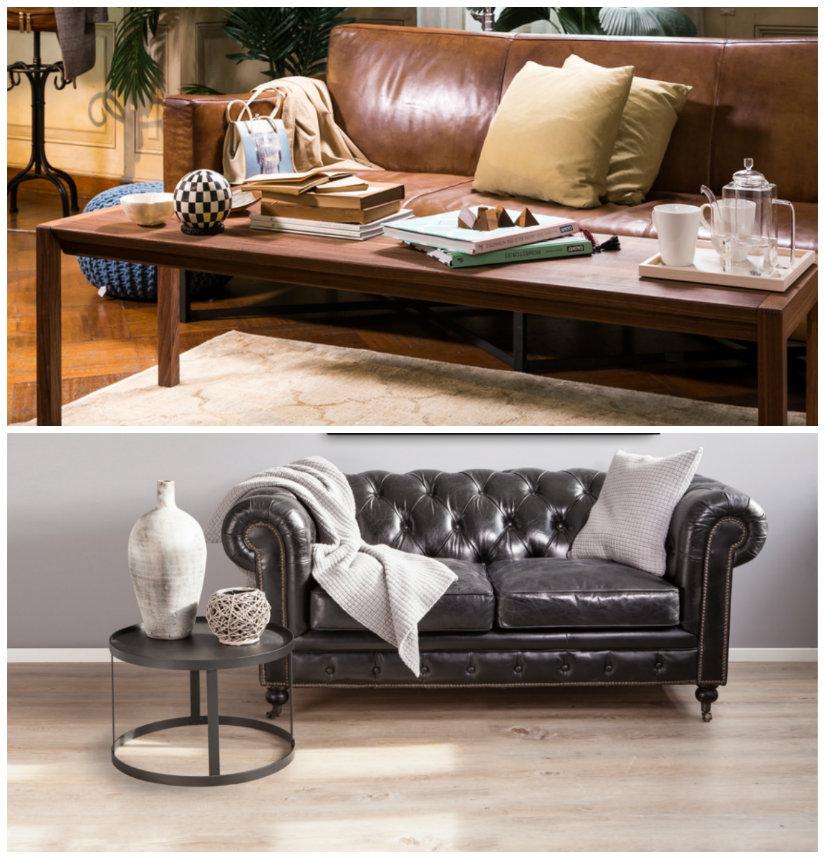 salones antiguos sofá de pie