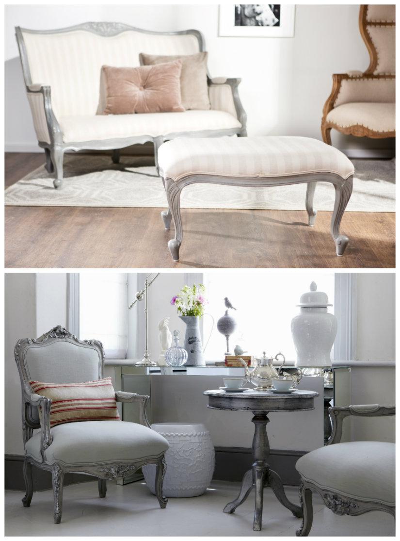 salones clásicos sillones y sofás