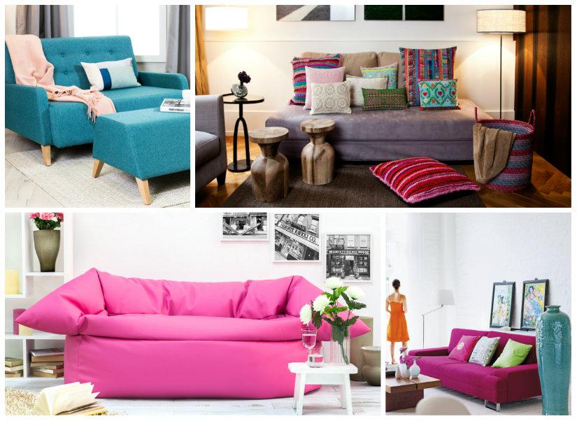 salones originales sillones de colores