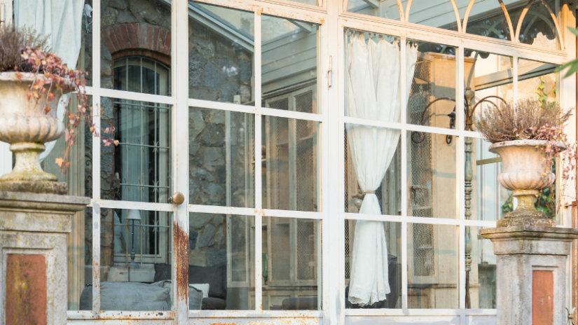 salones rústicos ventanas