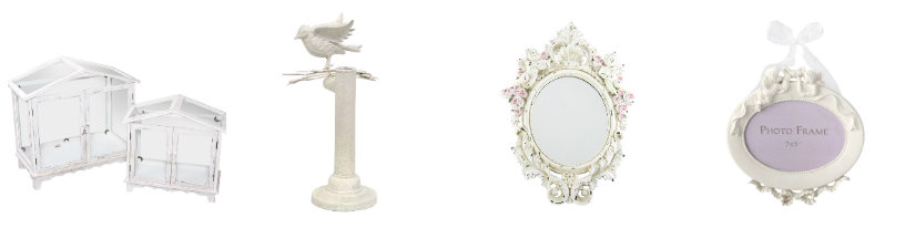 salones shabby chic complementos