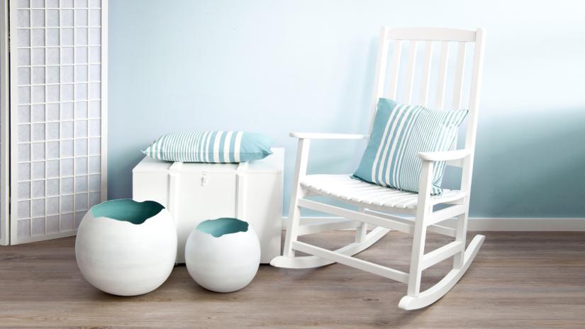 Papel pintado turquesa da vivacidad a tu casa westwing - Sofa mecedora ...