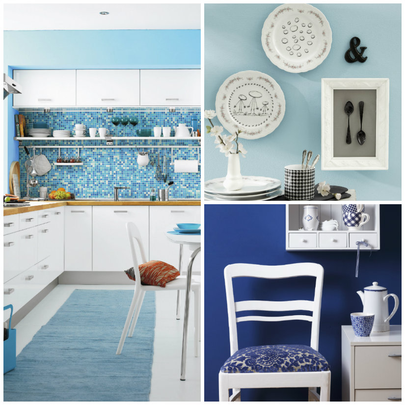 Pared azul calma y luminosidad para tu casa westwing for Cocina pintura pato azul