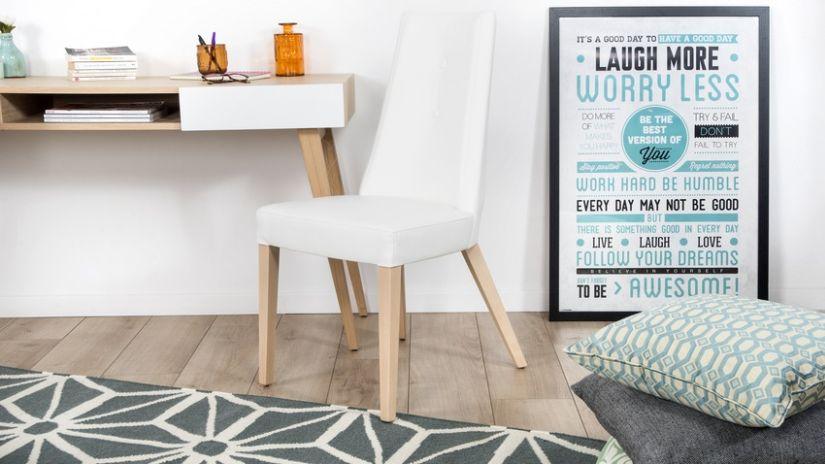 Chaise scandinave blanc et bois
