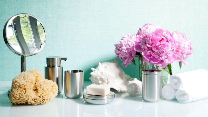 Salle de bain design fleurie