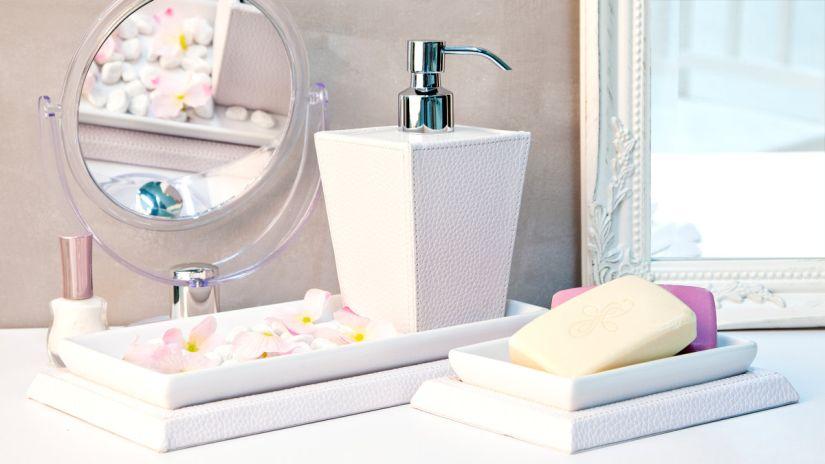 salle de bain, miroir de maquillage, pousse-mousse